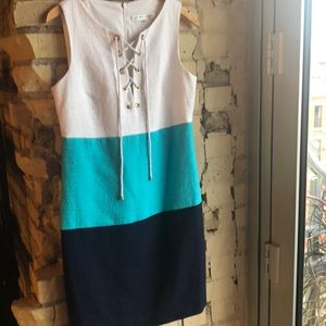 Trina Turk nautical style lined dress